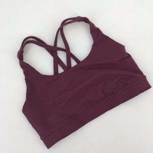 Lululemon Energy Sports Bra Strappy Dark Purple